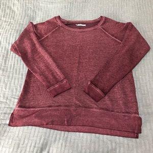 Maurice's Maroon 🍷 acid wash crew neck sweatshirt